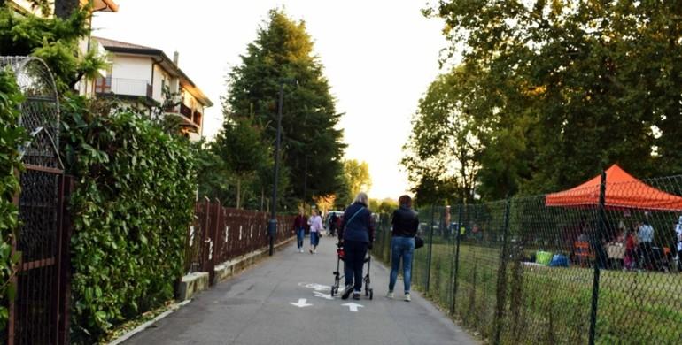 La pista ciclabile che passa da via Zize a via Induno