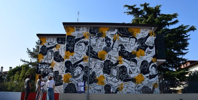 In Arcella c'è un nuovo murale realizzato dal colletivo Nsn997